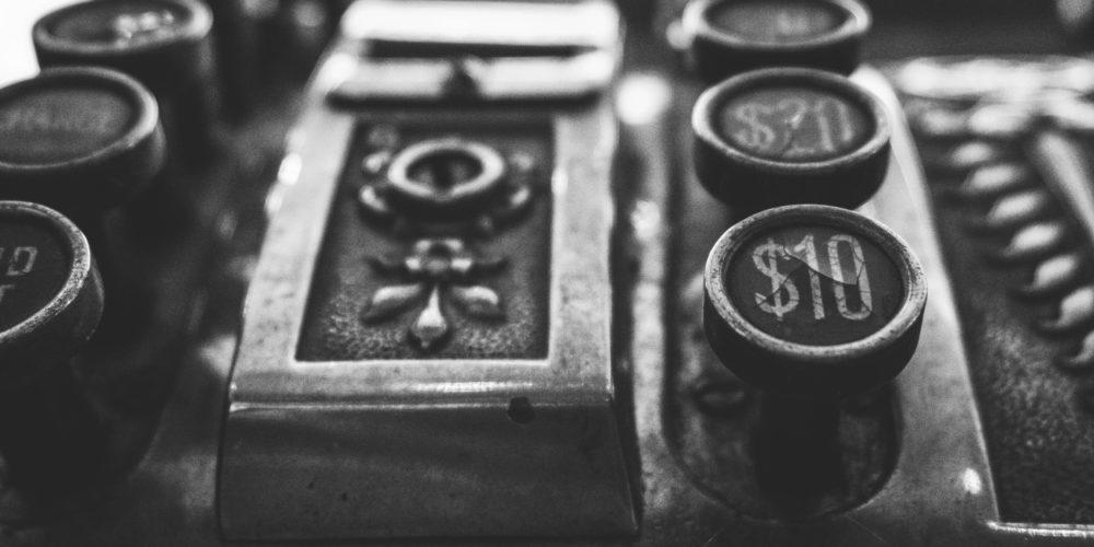 régi pénztárgép